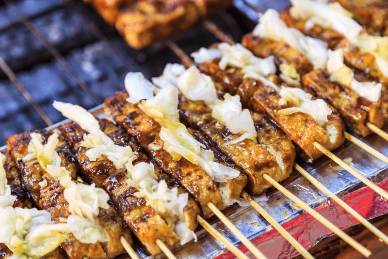 Beijing street food, Chou Doufu (Stinky Tofu).