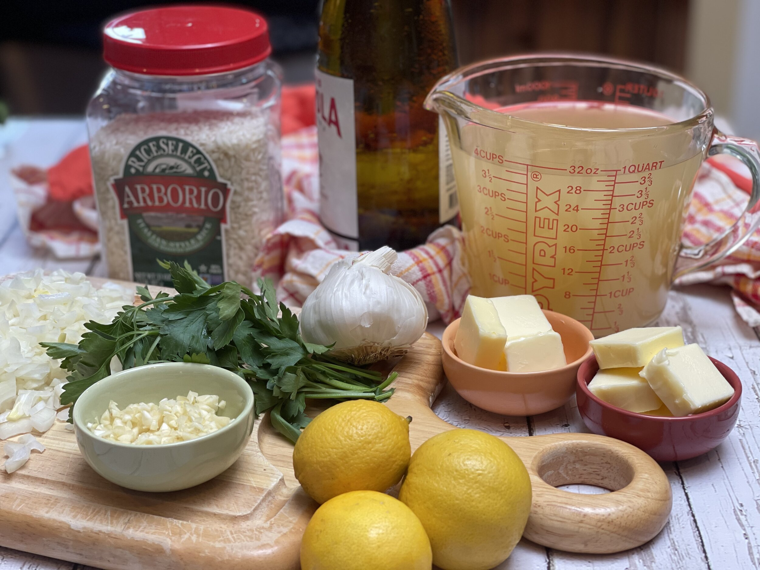 Ingredients for Venetian Risotto with Prawns