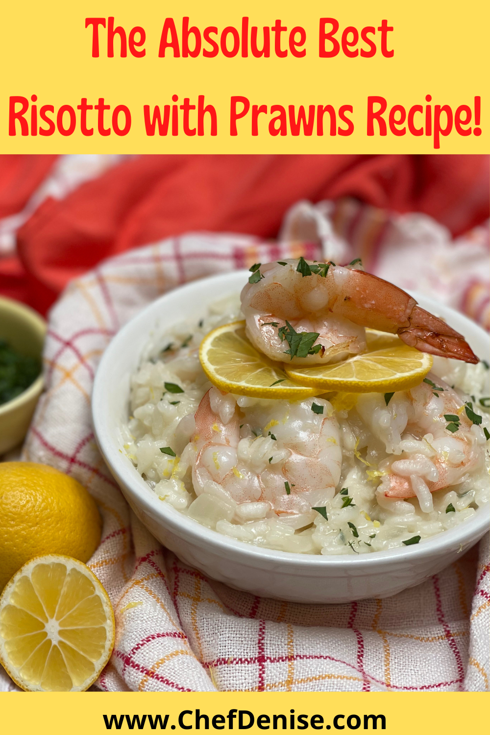 Pin for Risotto with Prawns