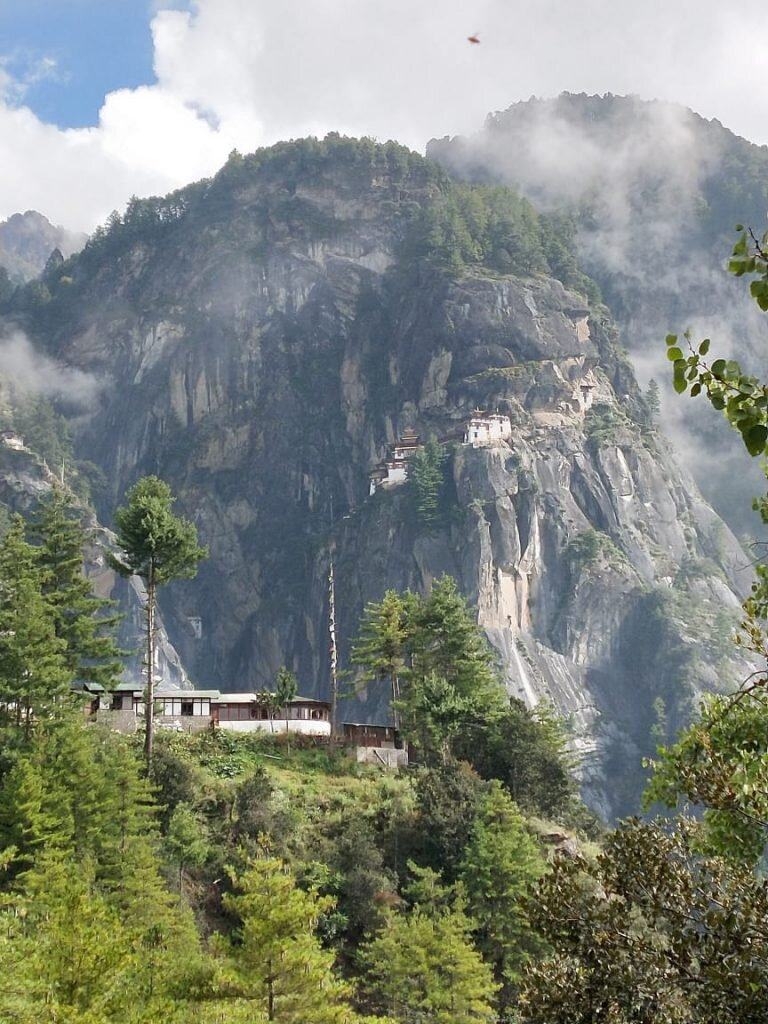 Stopping at the cafeteria for Butanese food on the hike to Tigers Nest Monastery.
