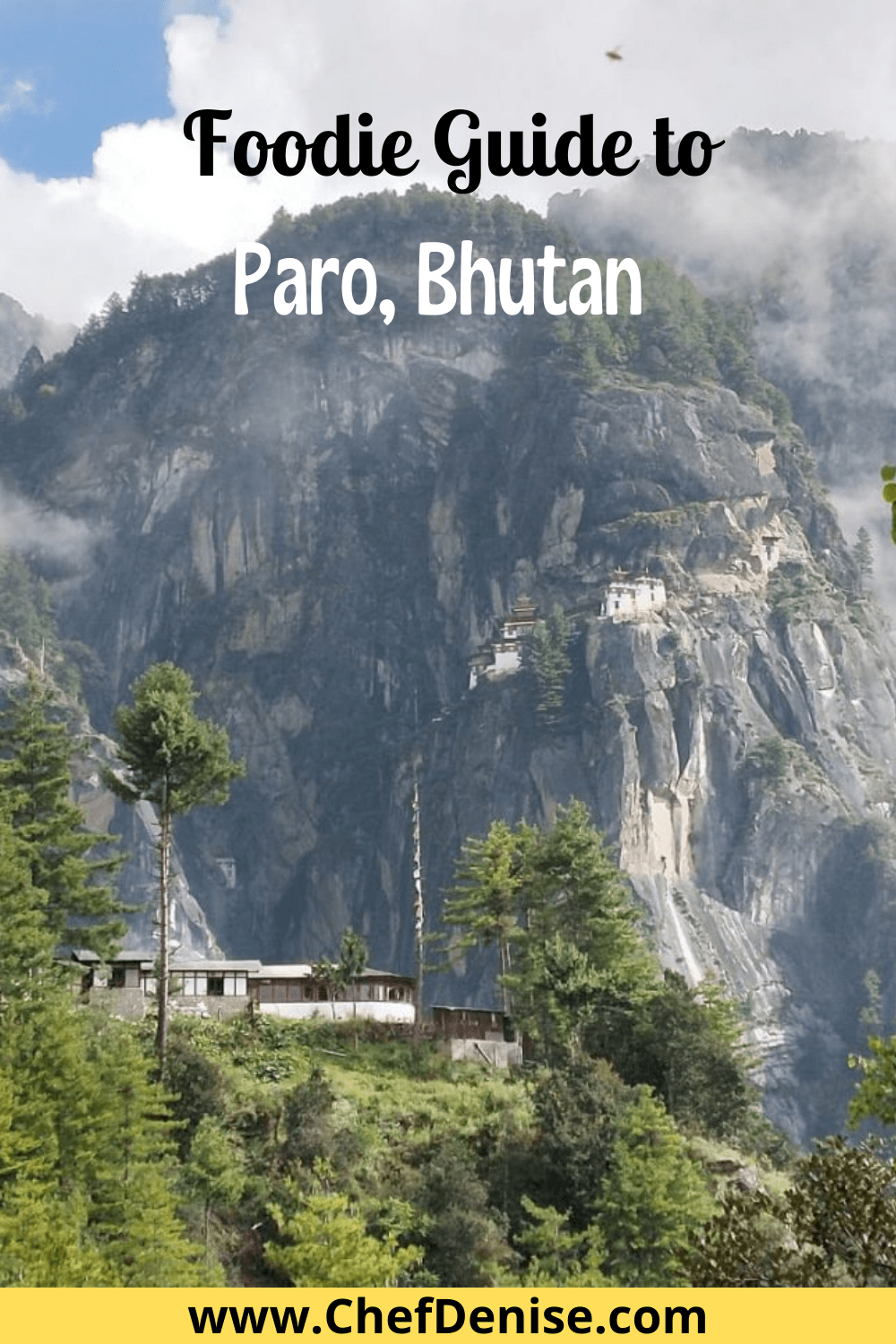 Pin for foodie guide to Paro, Bhutan
