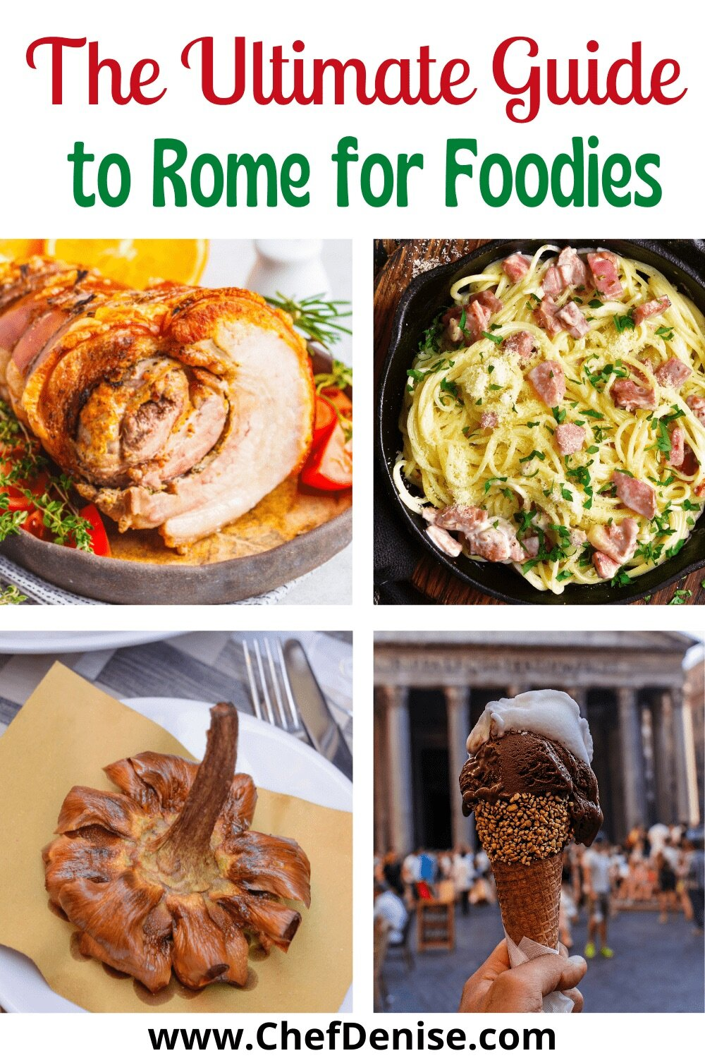 Pin for The Ultimate Guide to Rome for Foodies