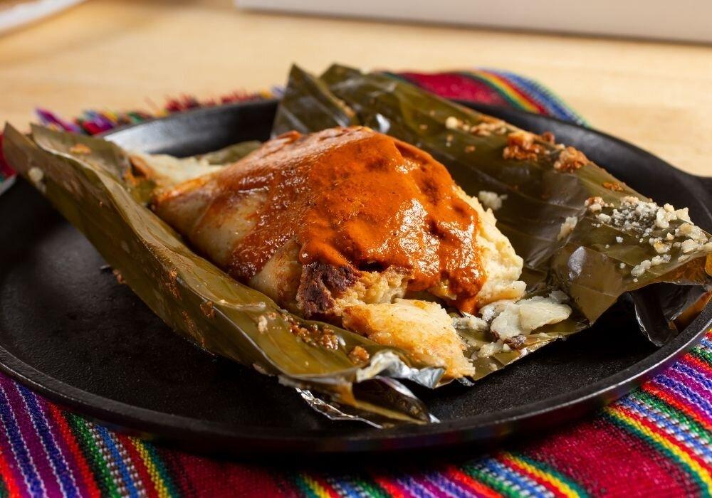 Traditional Yucatan tamales
