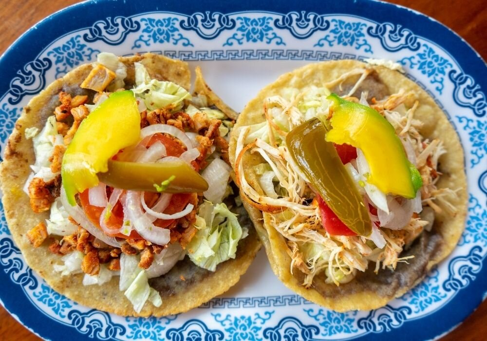 In Yucatan cuisine, panuchos are most often made with turkey meat.