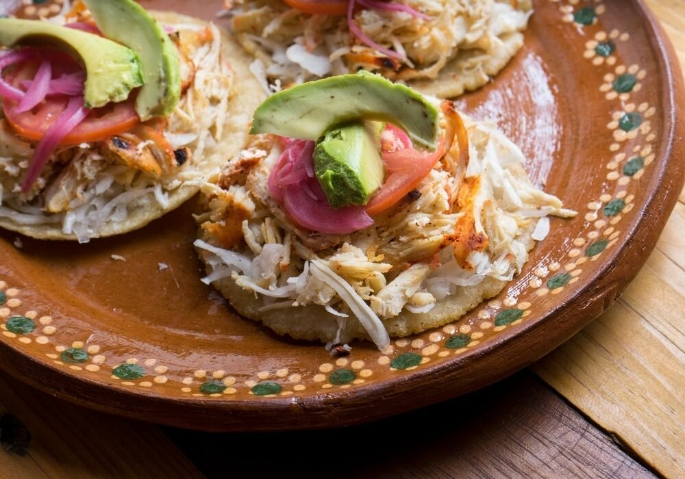 The Yucatan dish, Salbutes, can be an appetizer, snack, or meal.