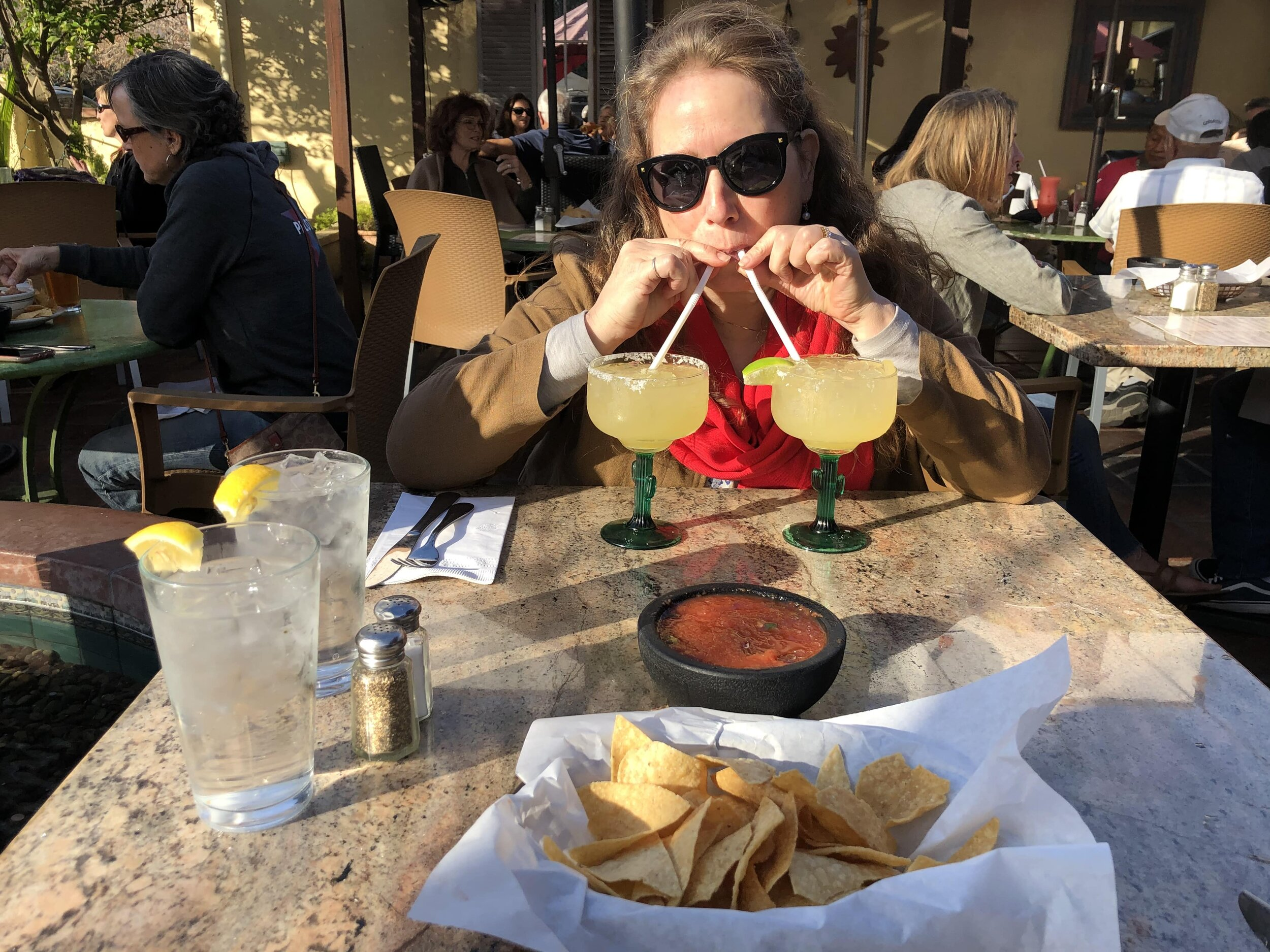 Feeling festive at Agave Maria's, our pick for best Mexican food in Ojai.