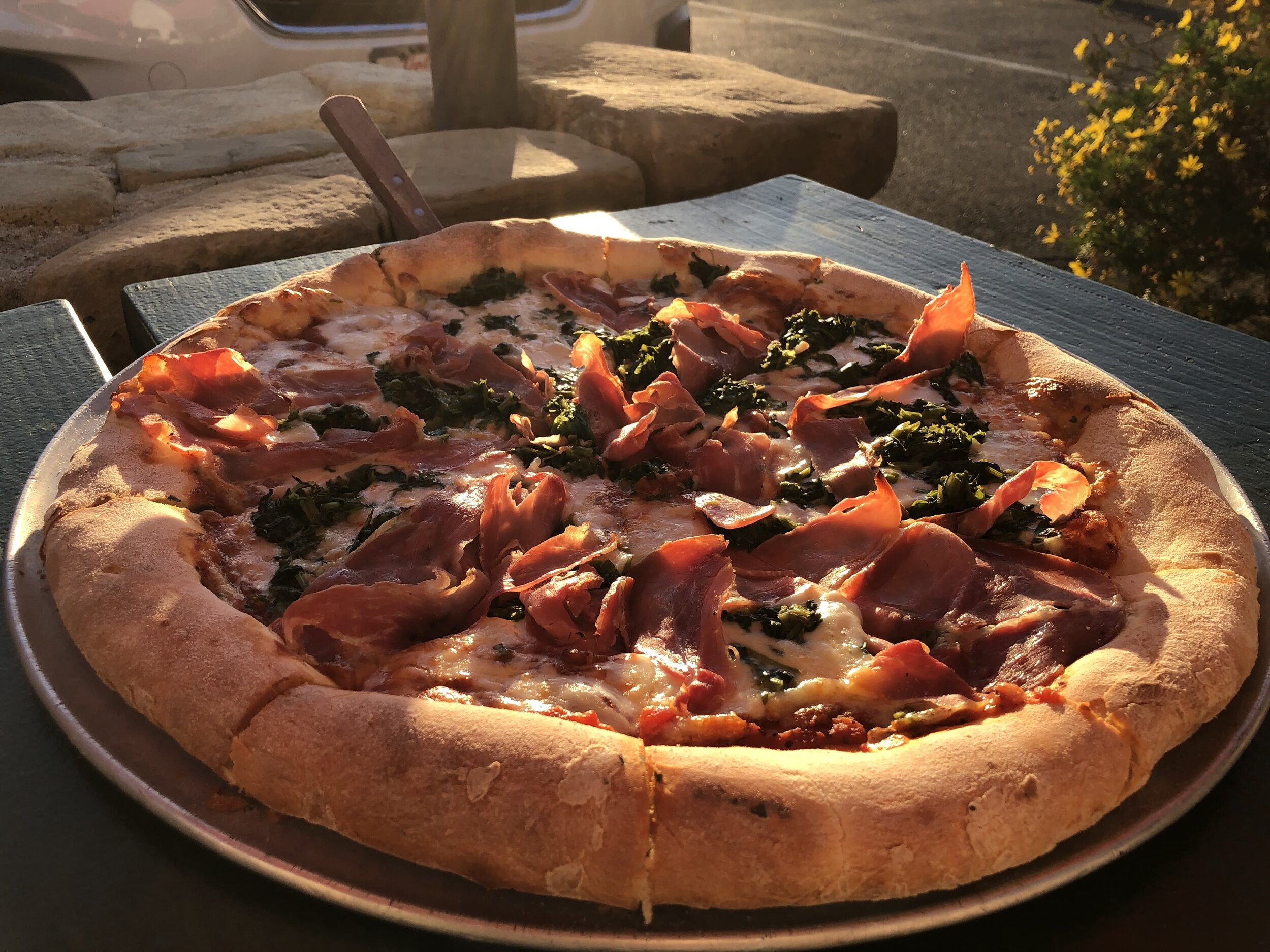 The best pizza in Ojai is at Boccali's