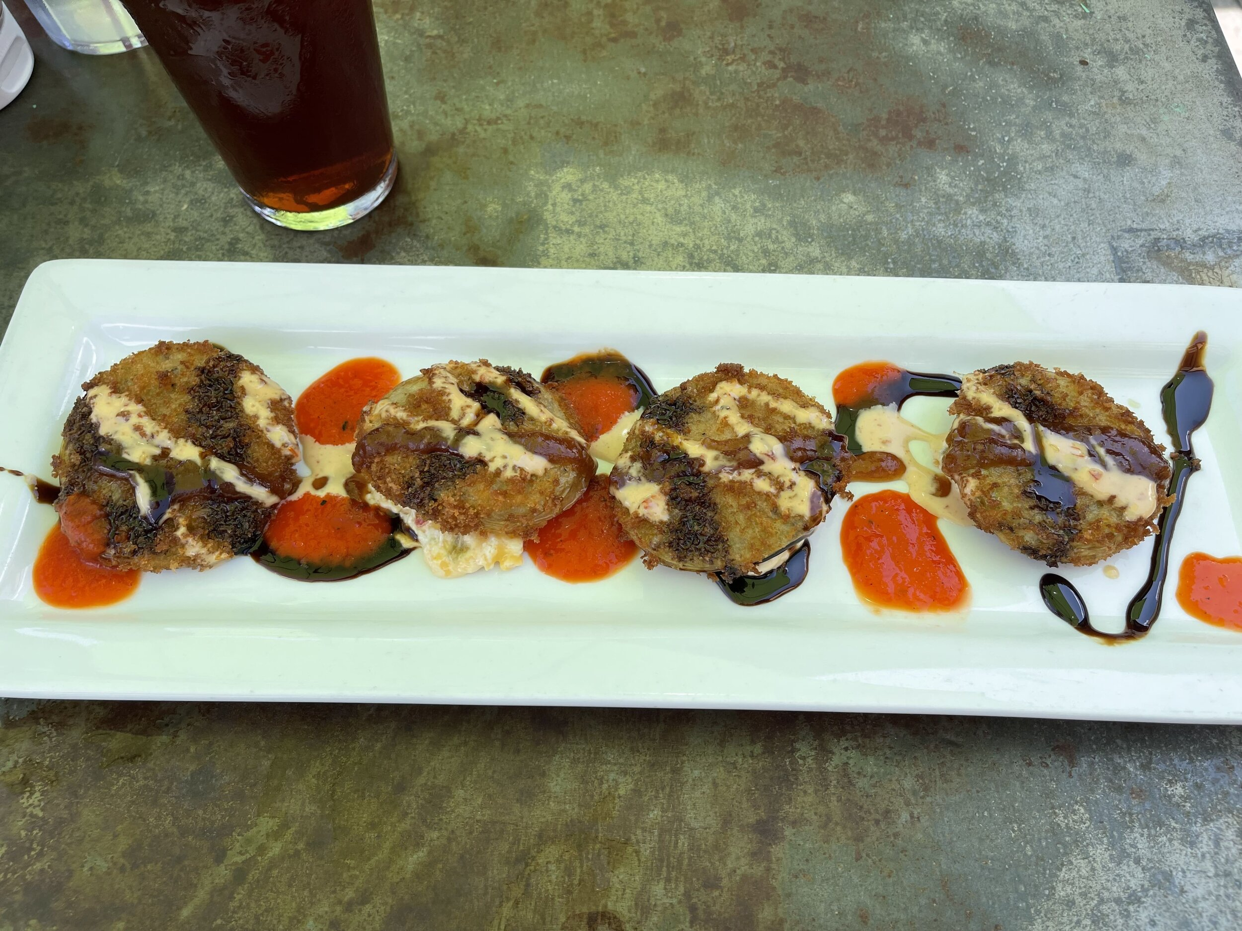Fried Green tomatoes at the Muck and Fuss restaurant in New Braunfels