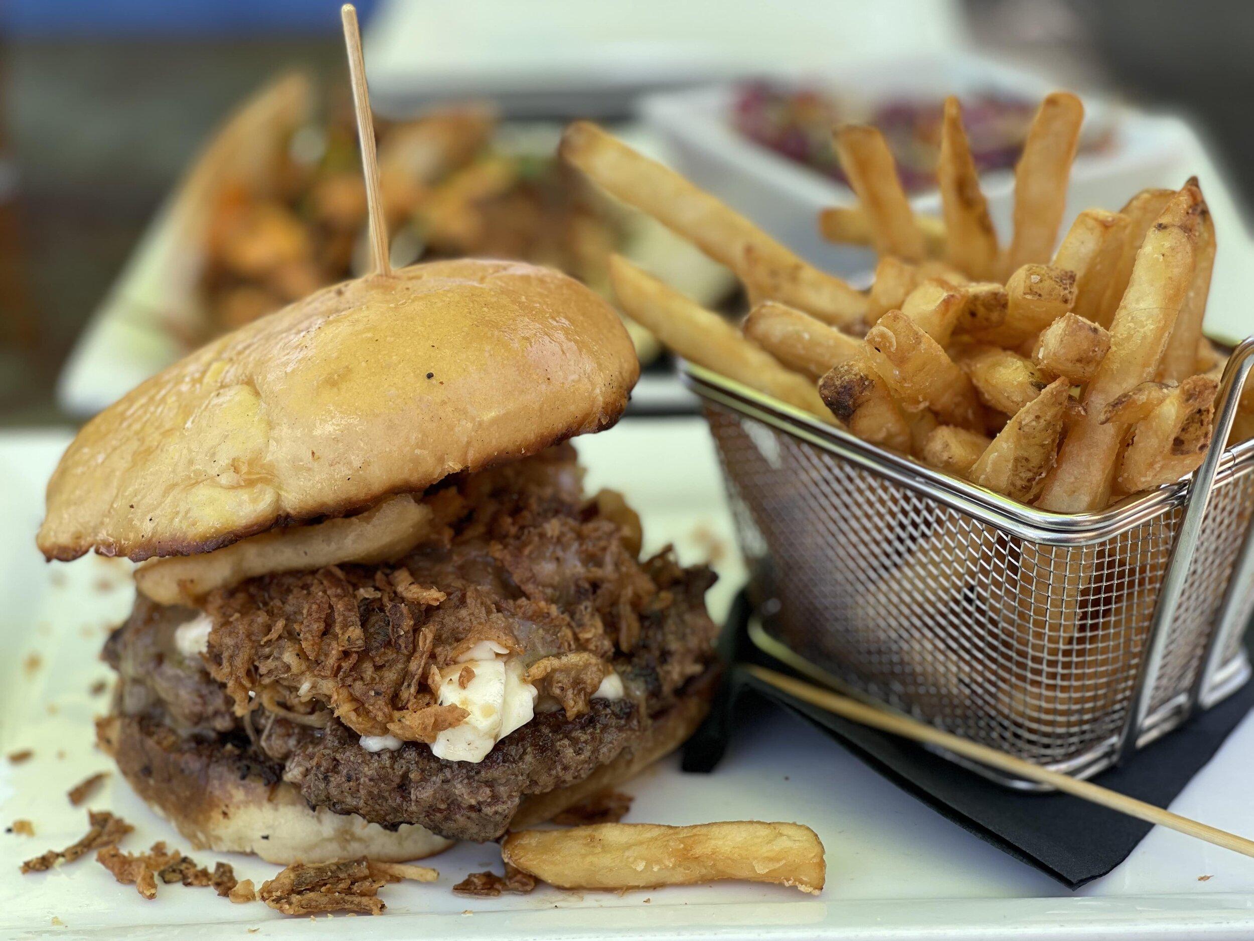 Poutine burger at Muck and Fuss New Braunfels restaurant