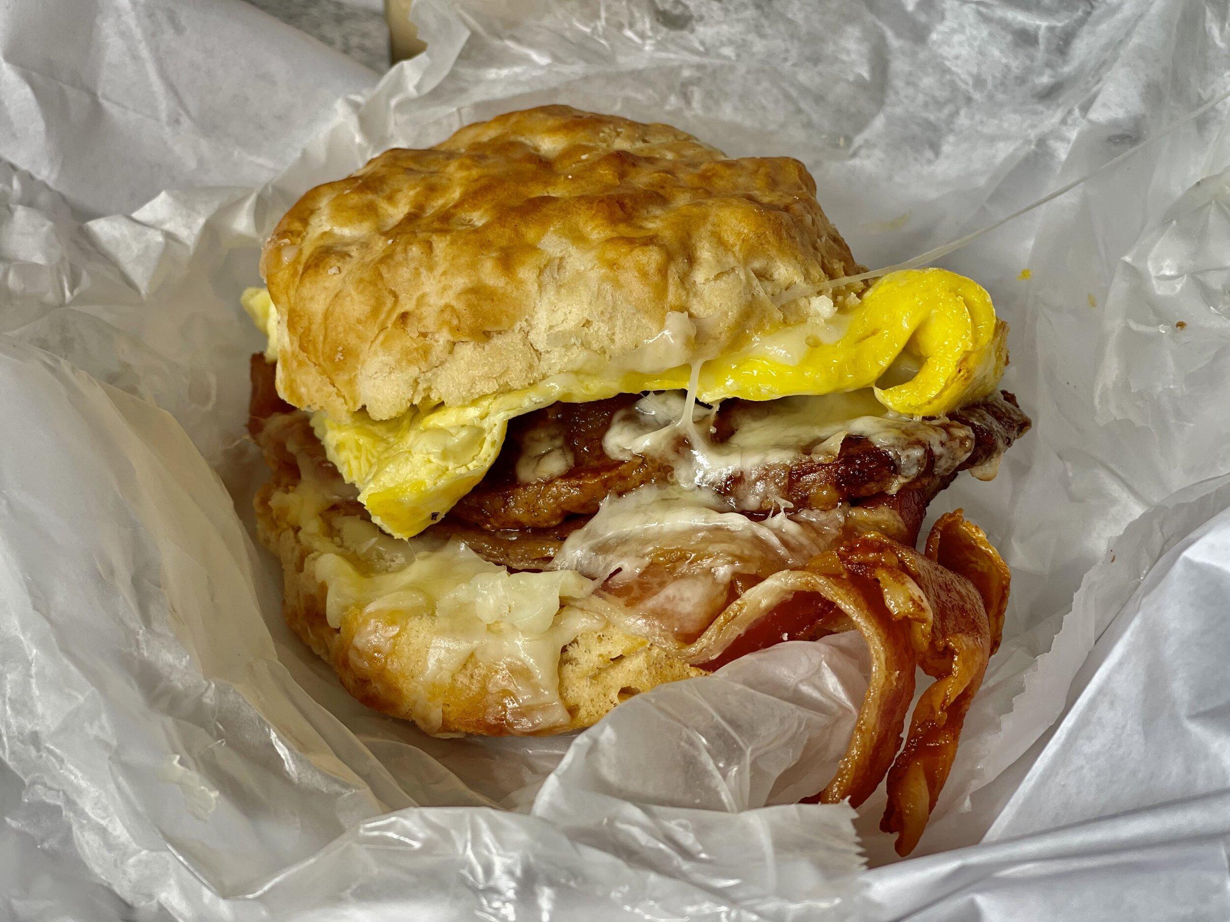 Mondo Breakfast Sandwich—best Outer Banks breakfast!