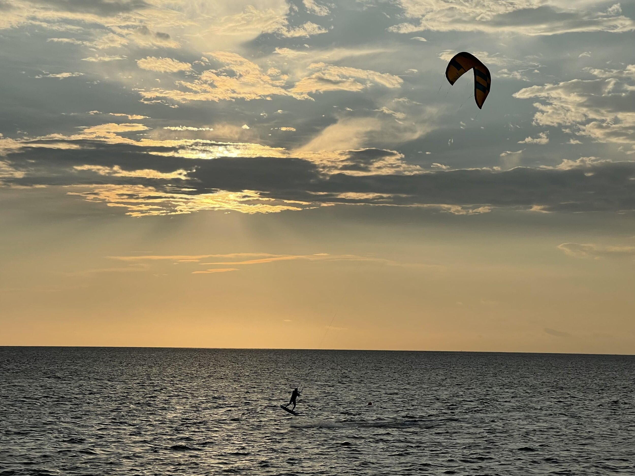 View of kite surfers from an Outer Banks vacation rental