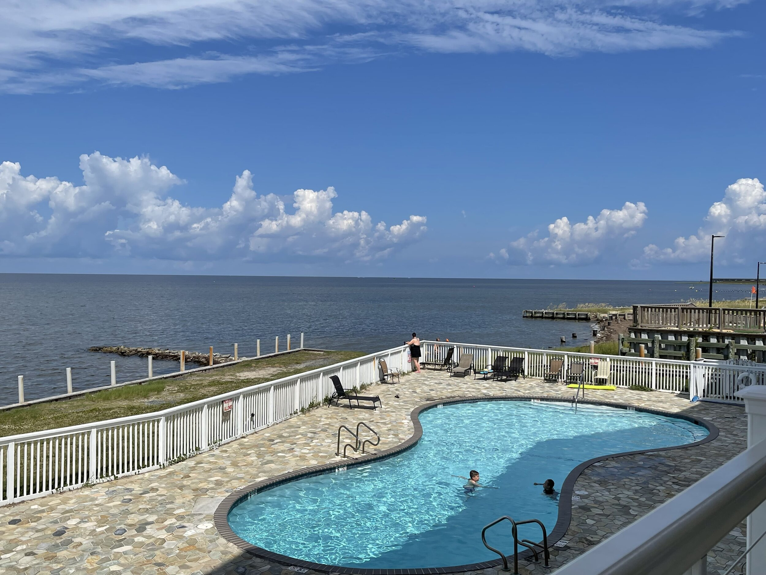 At some OBX rentals, even the pool has a view.
