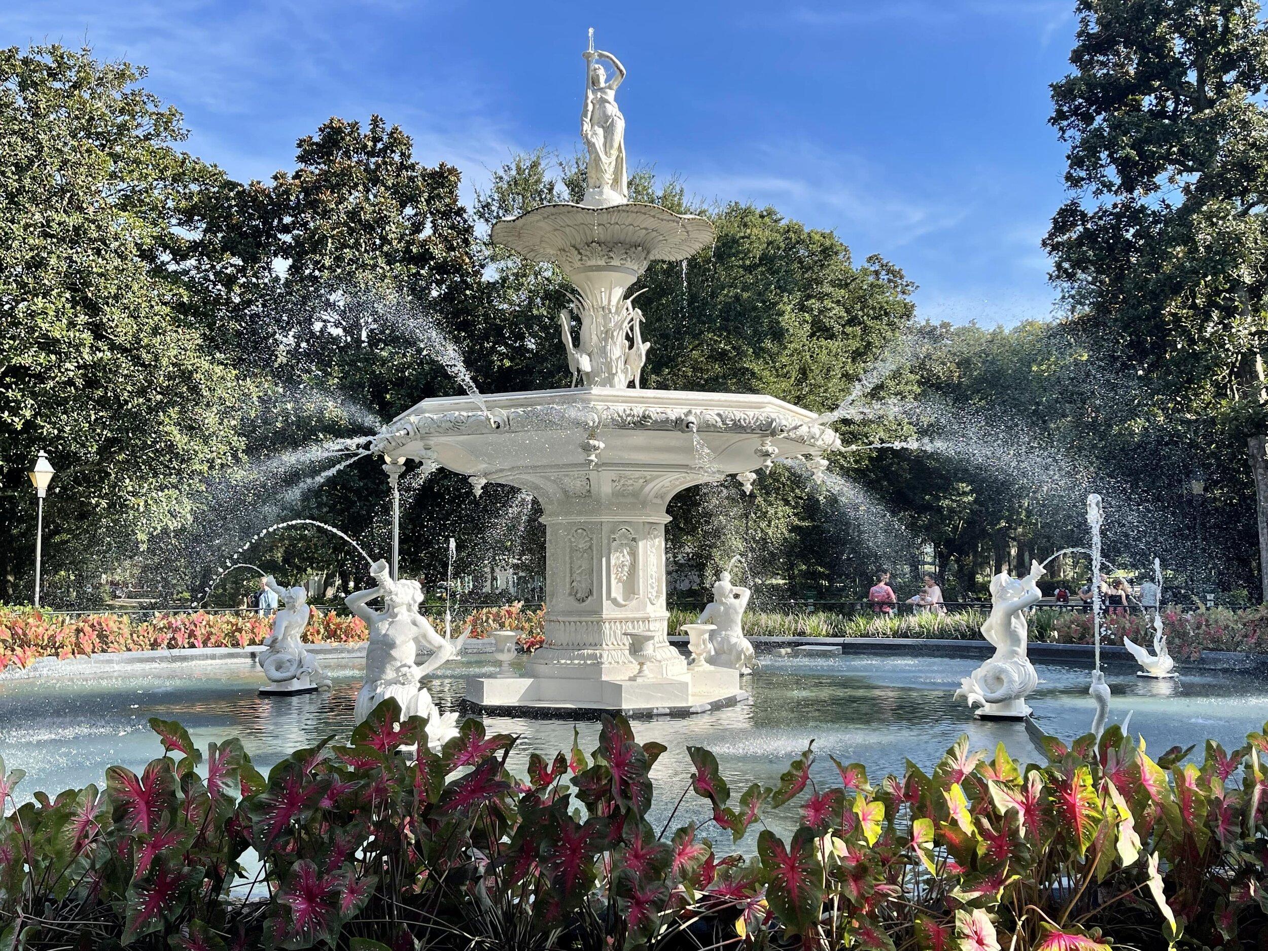 The fountain in Forsyth Park, Savannah, Georgia