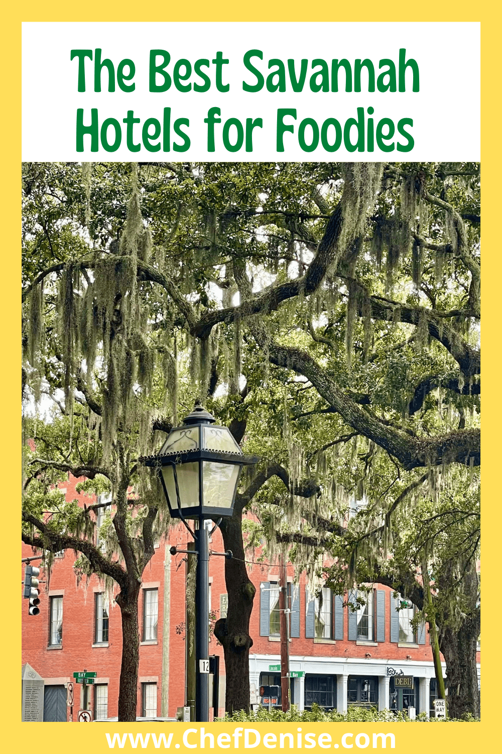 Pin for best Savannah hotels for foodies