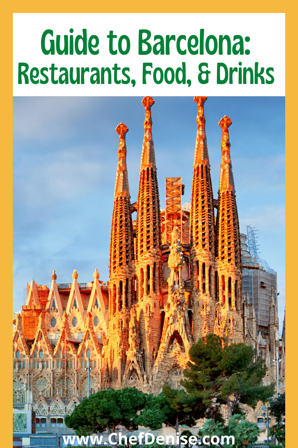 Pin for Guide to Barcelona Restaurants, Food, & Drinks