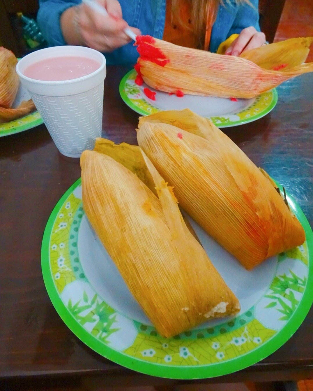 Tamales at one of the best places to eat in Mexico City.