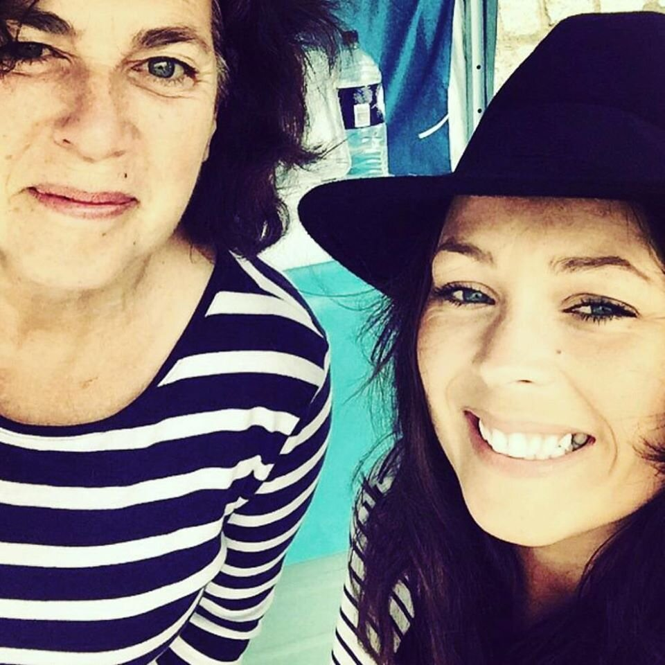 Me and my mum aka Louise, aka Lulu, aka the hair braiding lady!