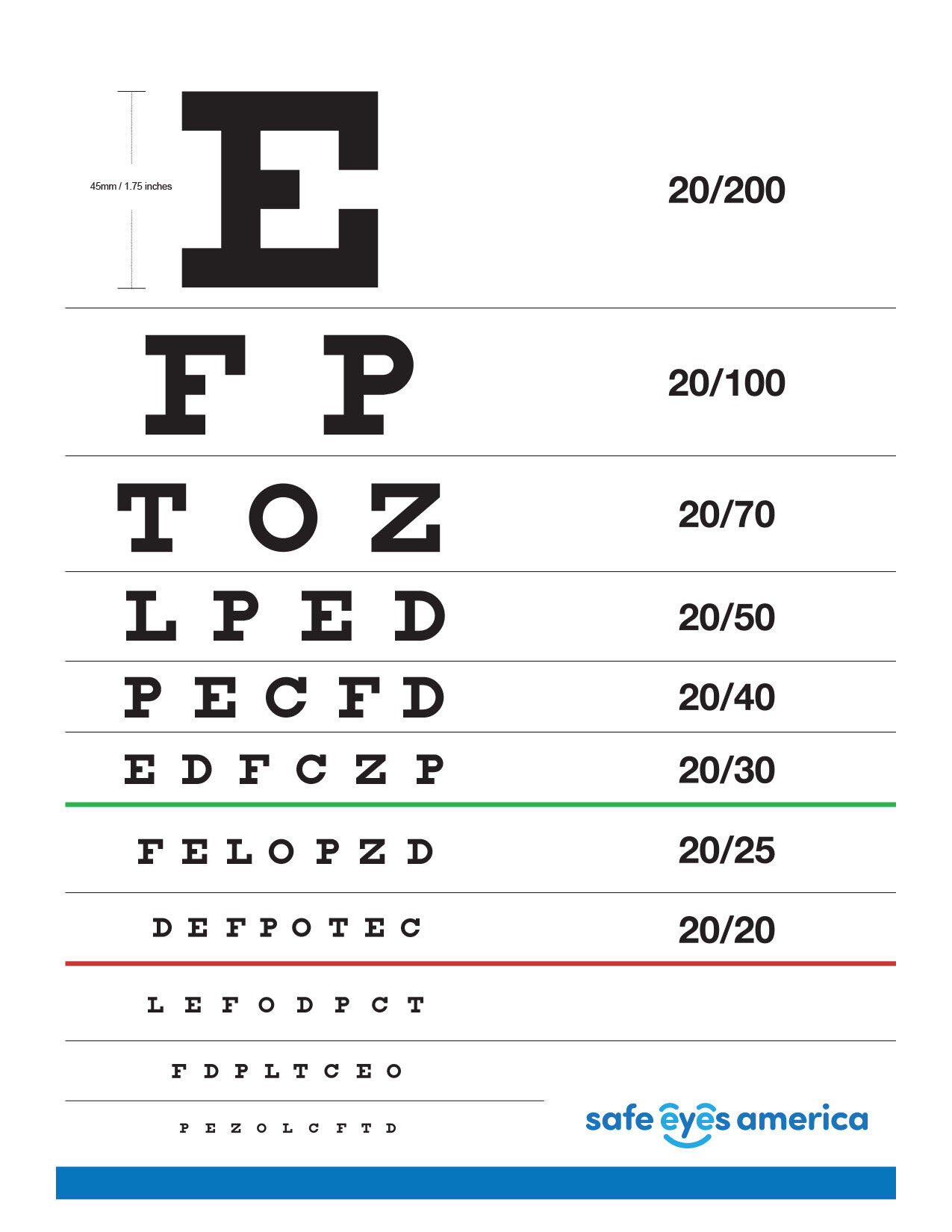 Home Eye Test Safe Eyes America