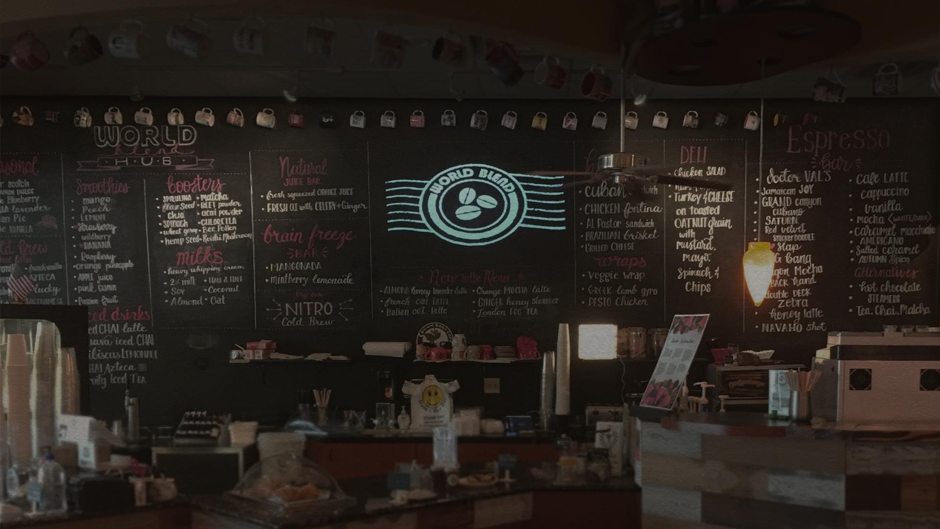 World Blend Coffee Shop Fort Worth