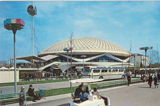 The GE pavilion at the 1964-1965 New York World's Fair that first housed the Carousel of Progress.