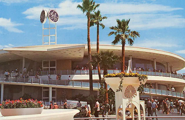 The attraction's new building after it was relocated to Disneyland Park.