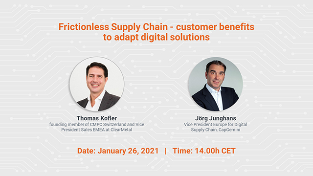 Upcoming Webinar - Frictionless Supply Chain