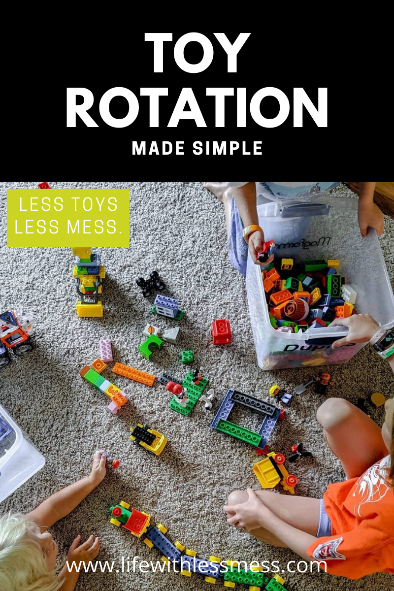 Toy Rotation Made Simple. Toy rotation makes old toys feel new, makes clean up a quick and easy, and keeps kids from being overwhelmed. Give it a try with this helpful tutorial.