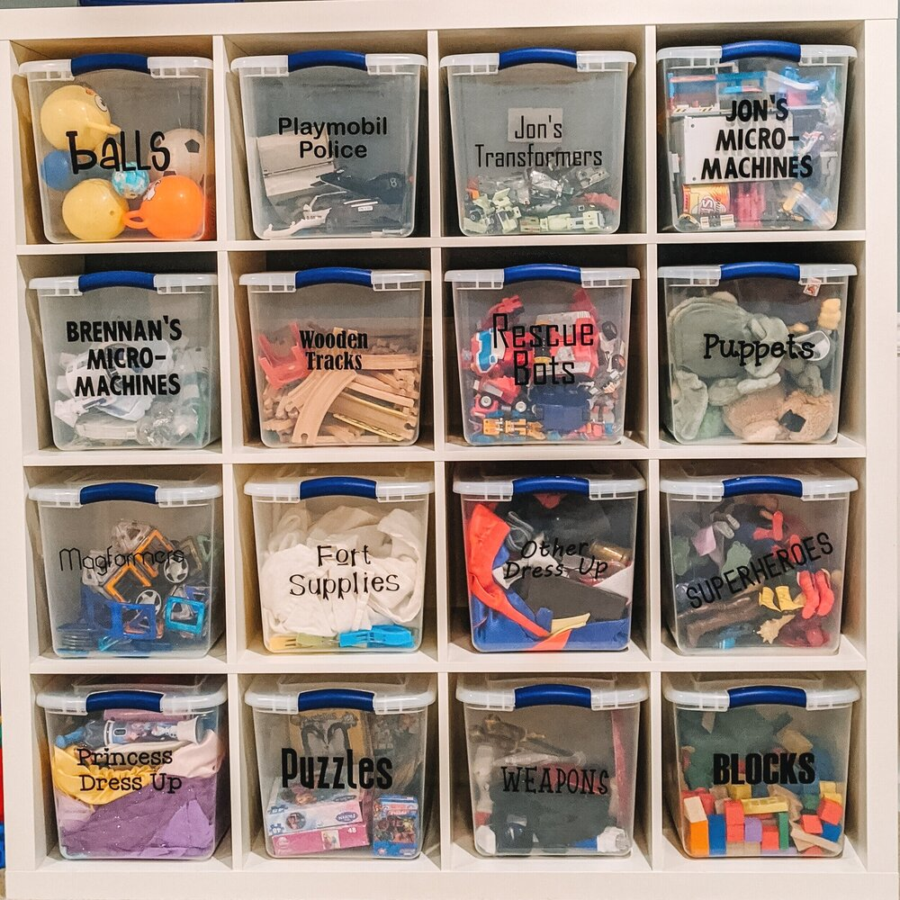 Toy Rotation Made Simple. How to rotate toys in and out of use to help your kids focus and learn to take care of their spaces.