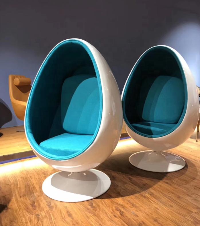 Art Lab Asia Egg Pod Chair, Blue Egg Chair