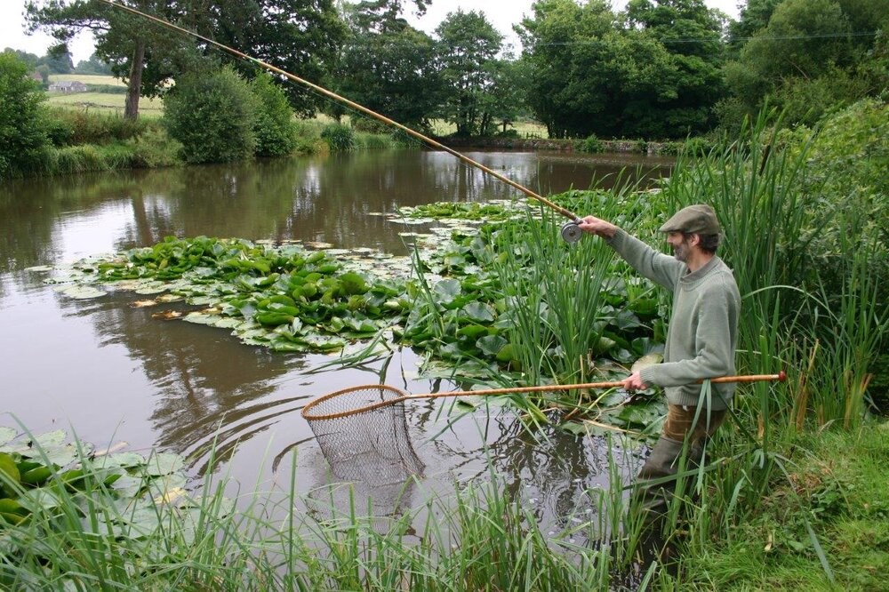 Chris Yates catching crucians from an idyllic Dorset pond
