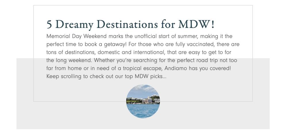 5 Dreamy Destinations for MDW! — Andiamo Luxury Travel