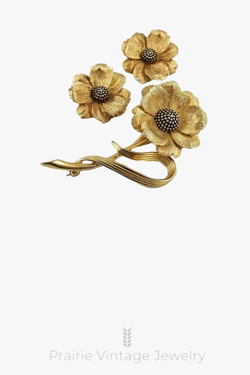 Bridal Shower Jewelry Bride Wedding Gold Brooches Bridal Jewelry Gift Vintage Gold Tone Pinwheel Chain Flower Brooch Pin| Pins