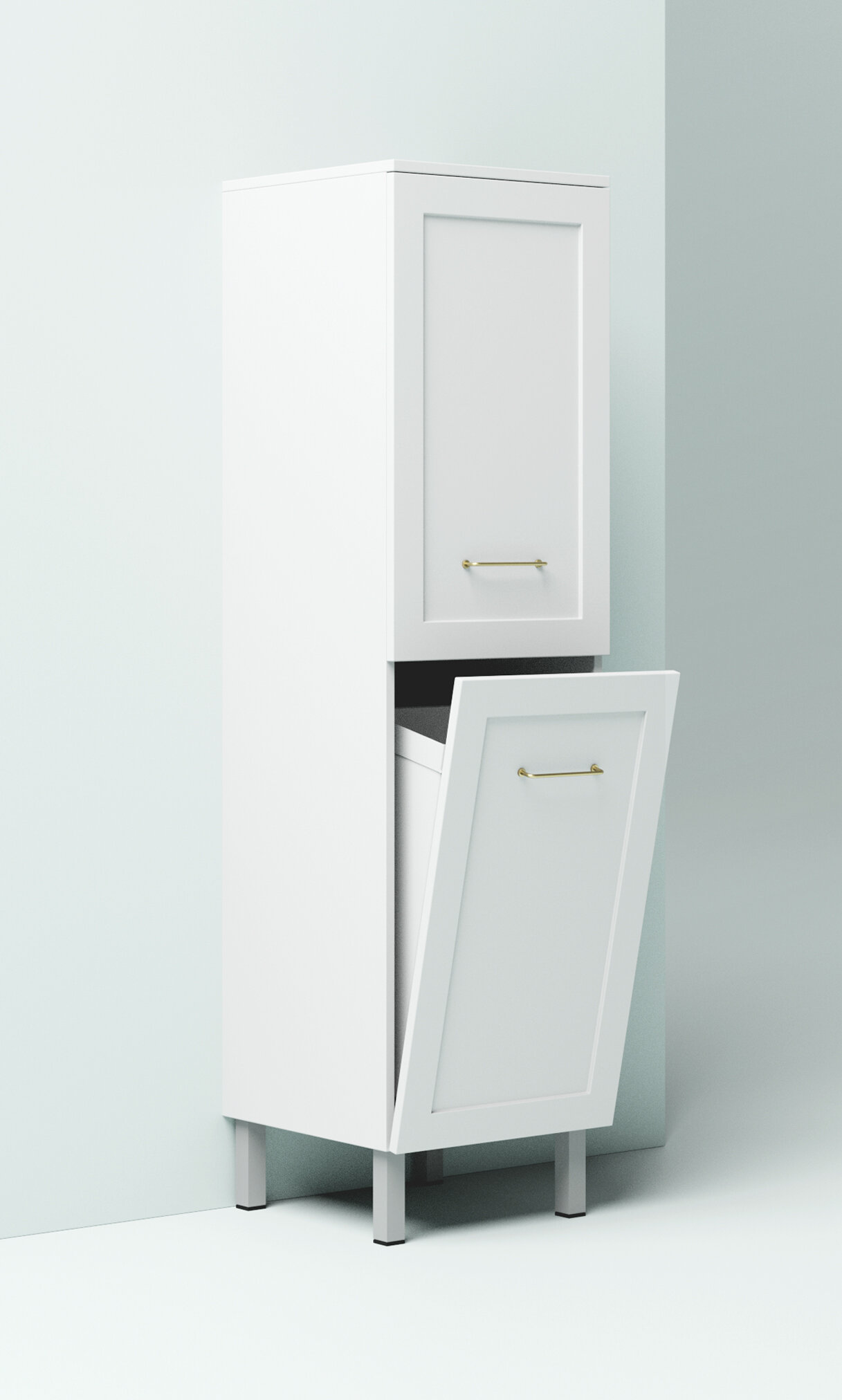 Laundry Hamper Tallboy Marquis, Tall Bathroom Cabinet With Laundry Hamper
