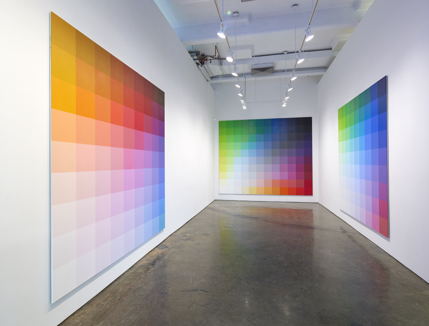 Exhibition view of Robert Swain: Immersive Color, MINUS SPACE, 2021