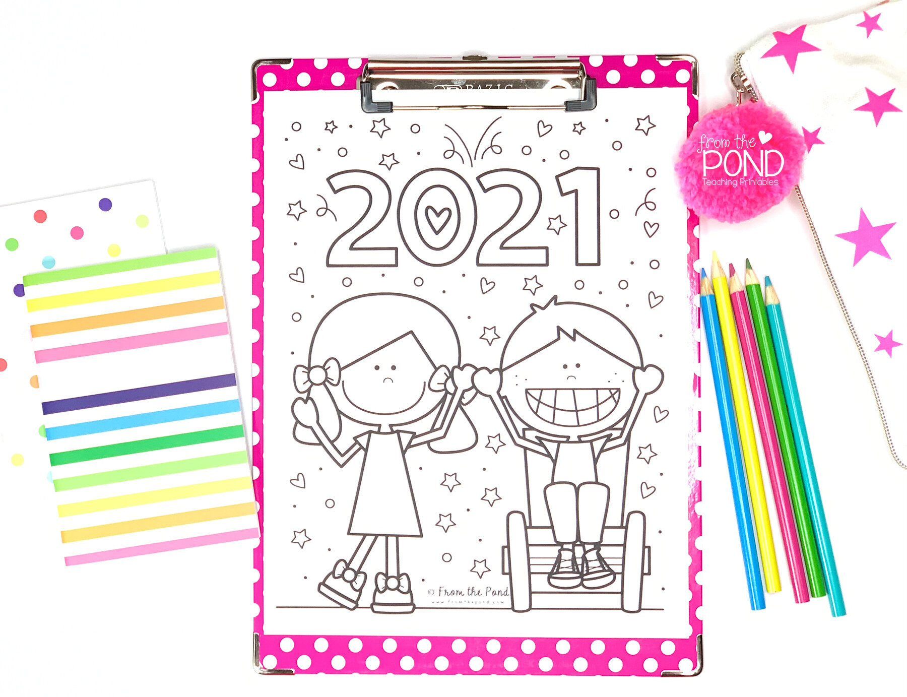 New Year 2021 Coloring Pages Pond Coloring Club