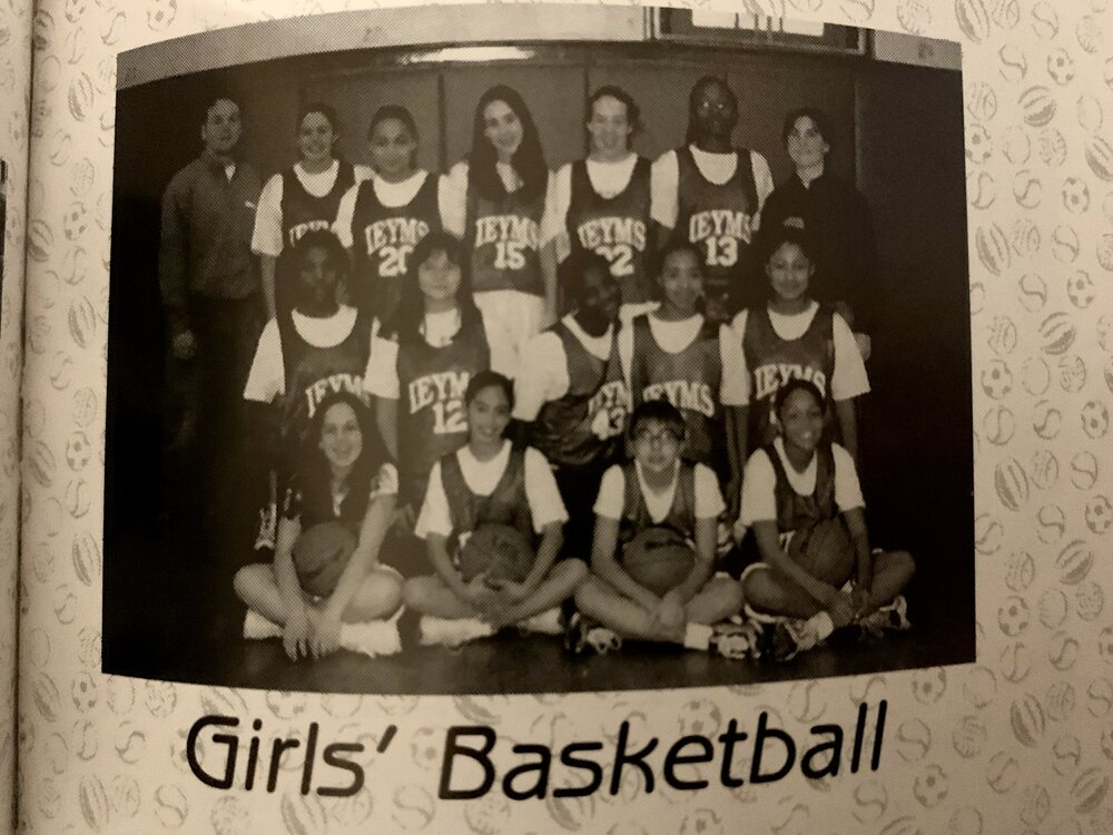 Our team picture in the yearbook. I'm at the bottom left.