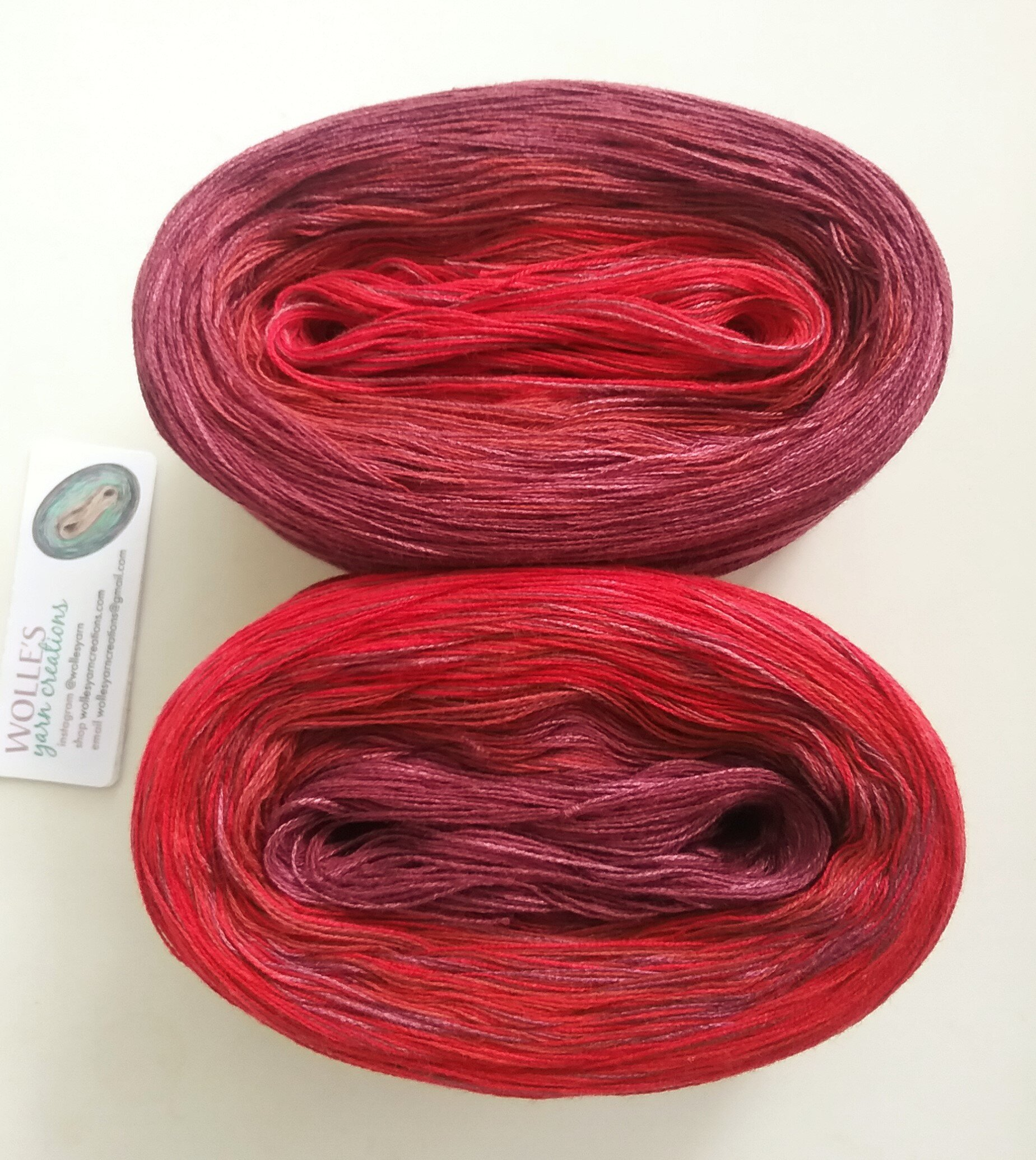 Color Changing CottonBamboo yarn 420 yards90 gr LILY BAMBOO Medley Fingering Weight