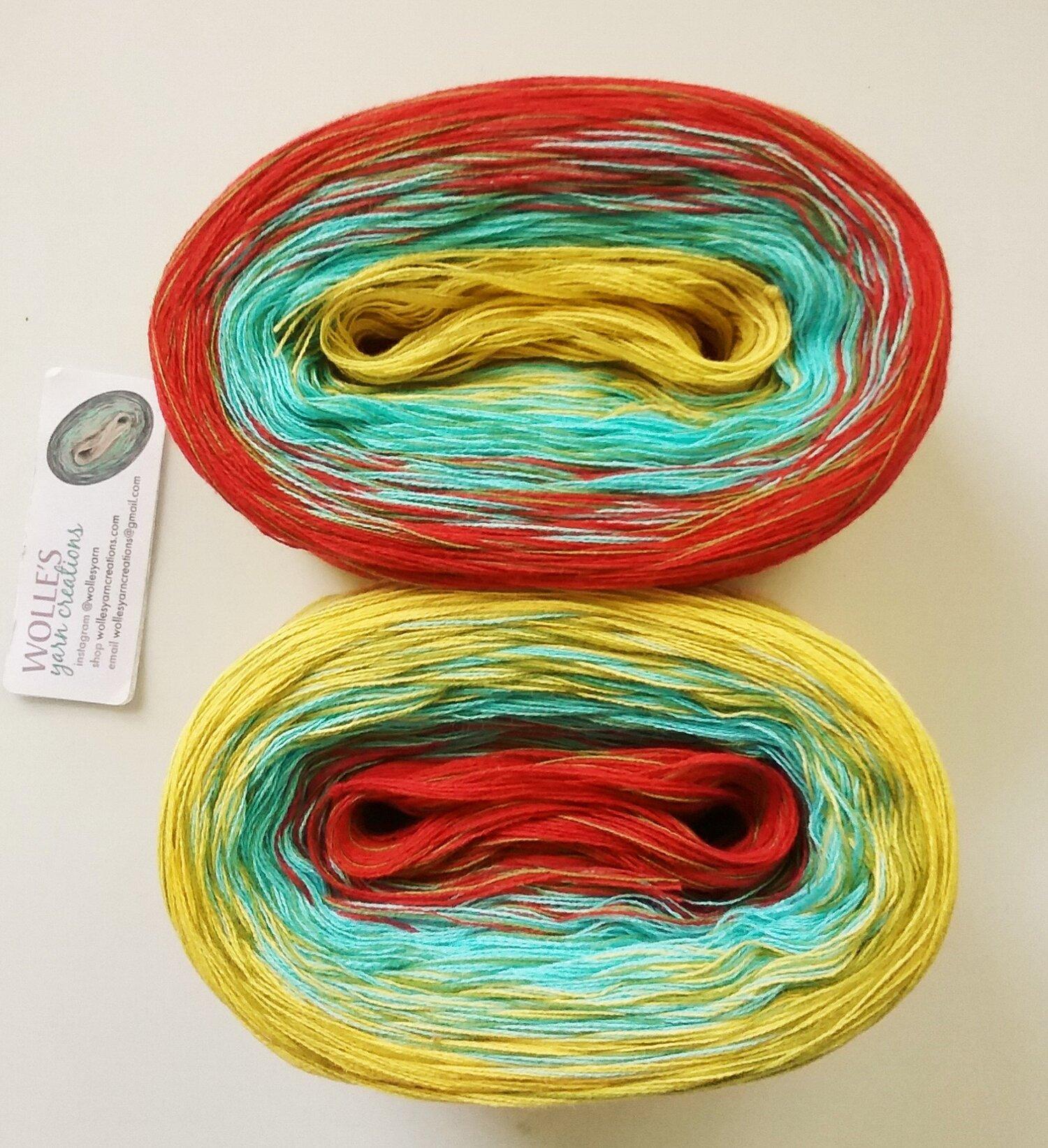 DK  Color Changing Cotton yarn SANNA 480 yards200 gr