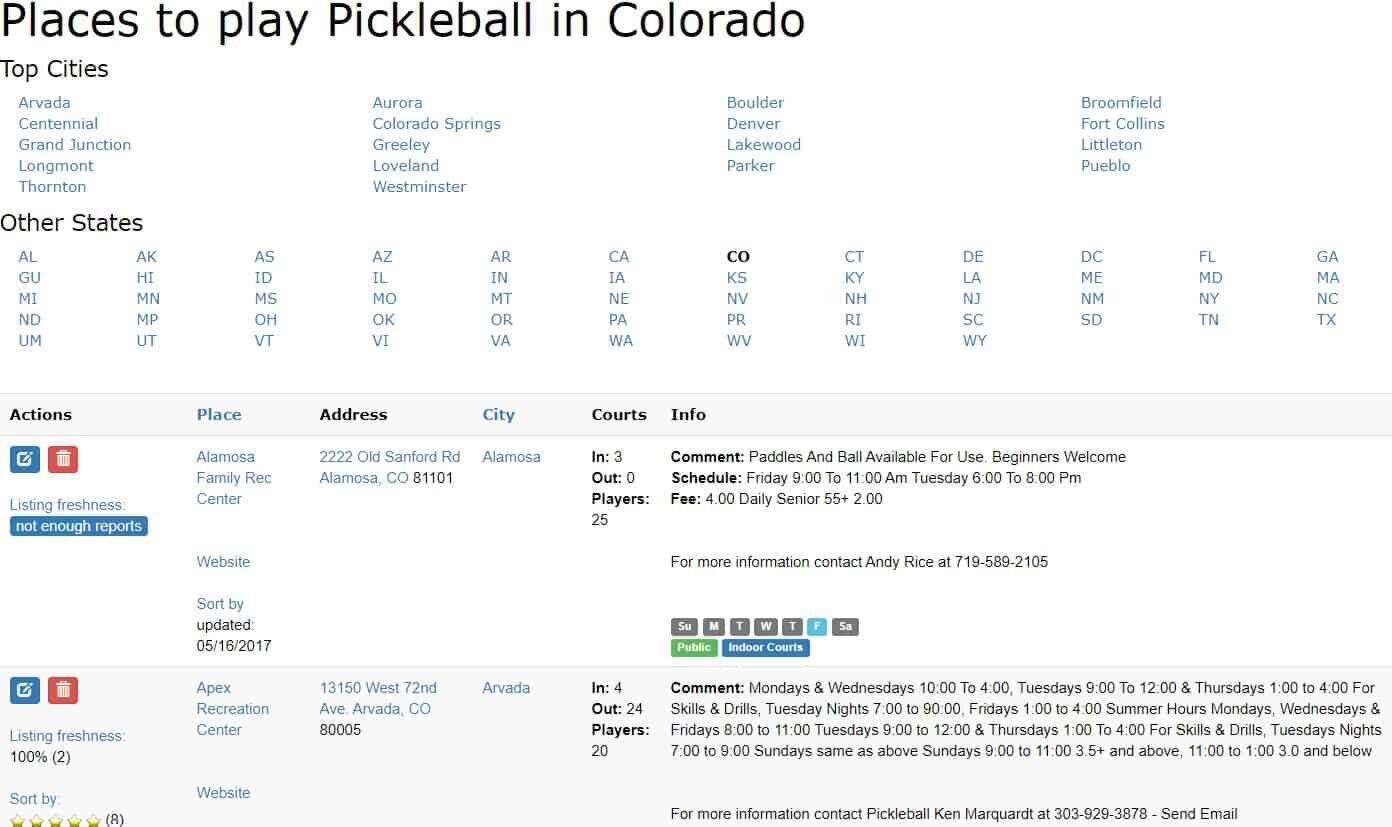 pickleball court near me