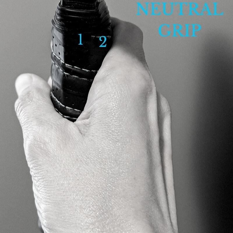 Knuckle of index finger should sit on the 2nd bevel