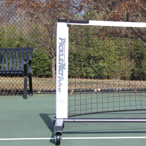 PickleNet Deluxe On WheelsBy OnCourt OffCourt - Truly the deluxe net system if you want durability and portability