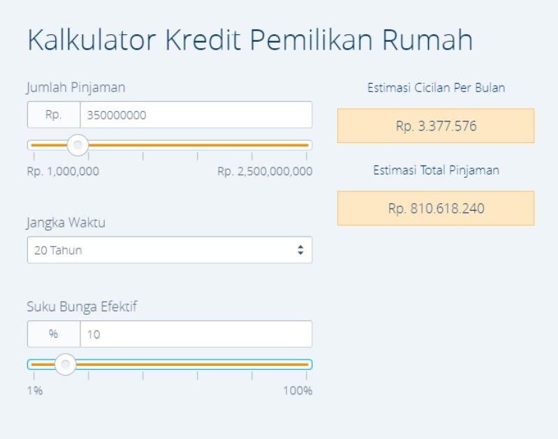 Kalkulator Digital Untuk Menghitung Simulasi Keuangan Bibit Artikel