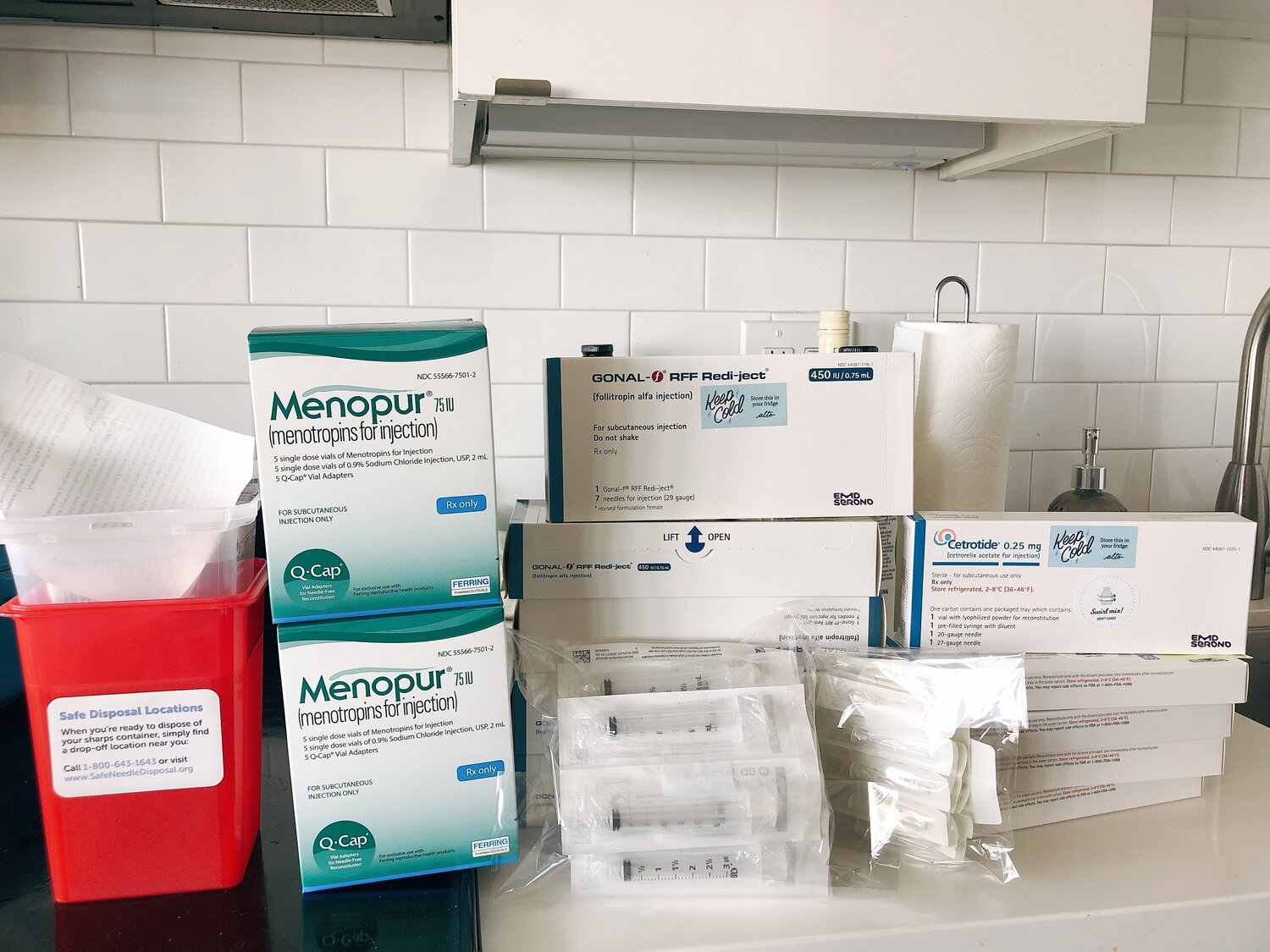 All of my medication, syringes and all!