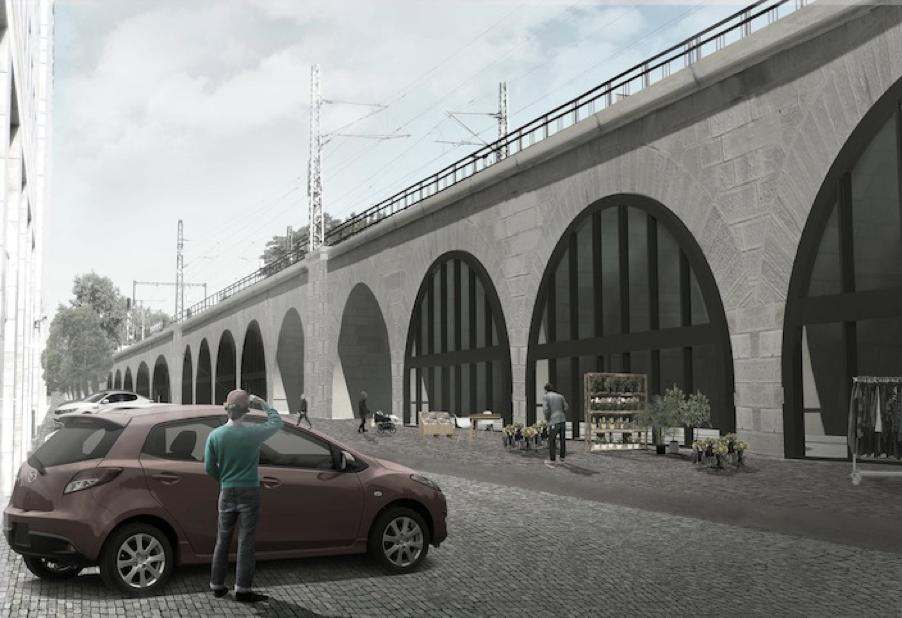 Letos na podzim byl po téměř tříleté rekonstrukci otevřen nejstarší železniční most v Praze - Negrelliho viadukt. Zdroj: IPR Praha