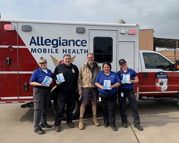 Allegiance Mobile Health  needed additional masks for its EMS crews. Mediport USA delivered 2,000 masks.  Mediport USA is preparing to deliver an additional 2,000 masks as well as 4,000 surgical masks and 2,000 face shields. March 30th, 2020.
