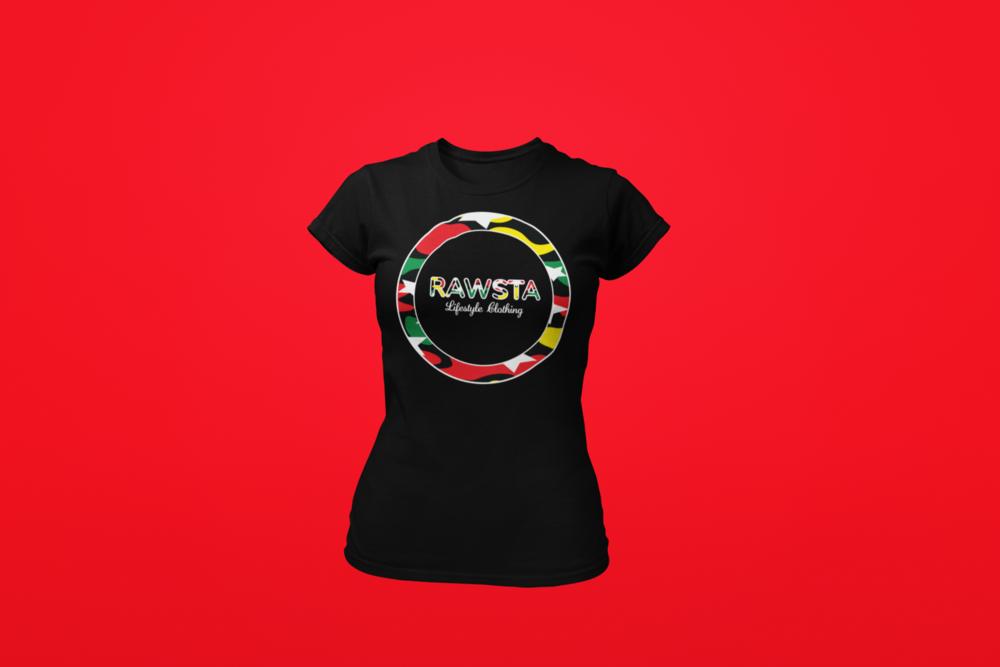 rawsta_woman_ghosted_bredren_series_t-shirt_red_background_rawsta_lifestyle_clothing_black.png