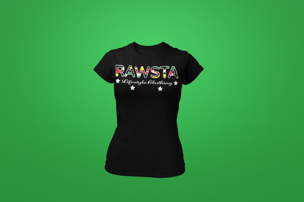 rawsta_woman_ghosted_signature_series_t-shirt_green_background_rawsta_lifestyle_clothing_black.png