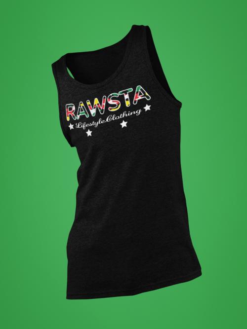 rawsta_man_ghosted_signature_series_tank_top_green_background_rawsta_lifestyle_clothing_black.png