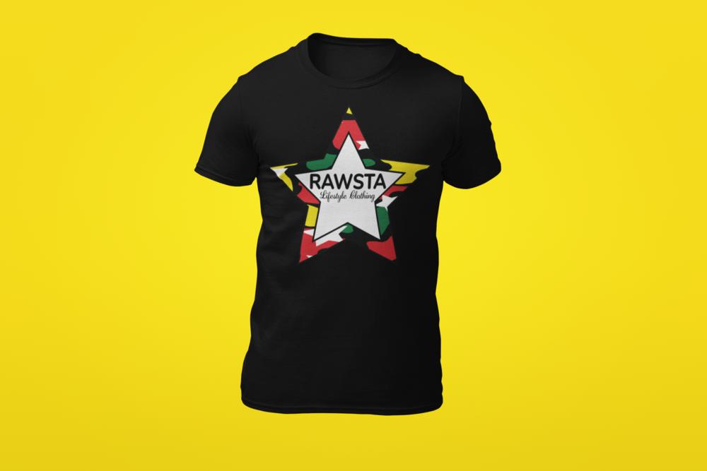 rawsta_man_ghosted_camoflauge_star_series_t-shirt_yellow_background_rawsta_lifestyle_clothing_black.png