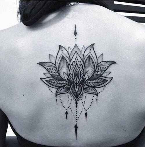 tatuaje flor de loto mandalas